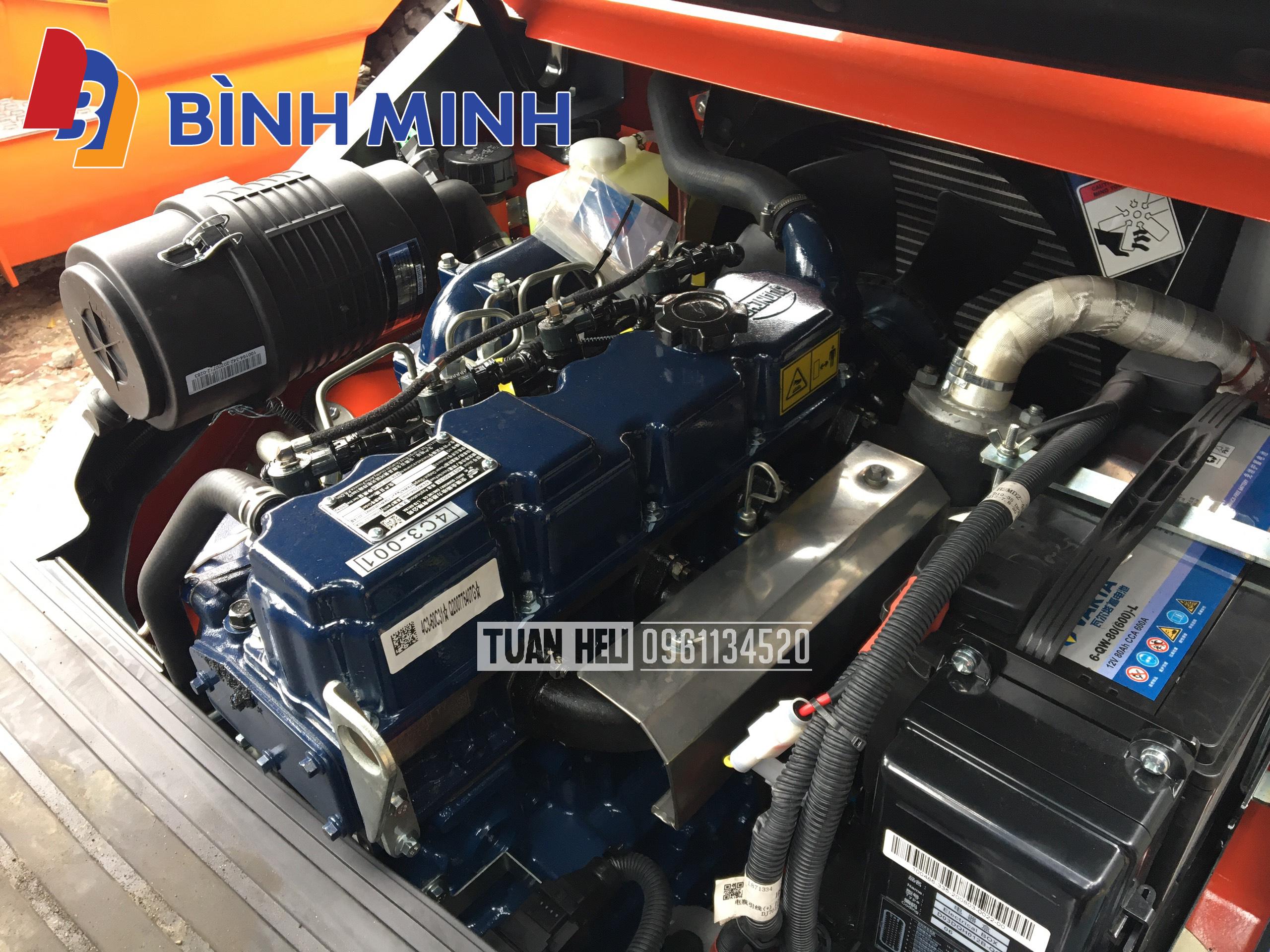 Xe nâng HELI lắp động cơ Quanchai 4C3 | Hotline: 0961.134.520