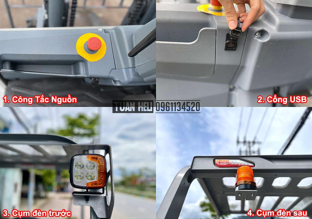 Chi tiết xe nâng điện 4-5 tấn