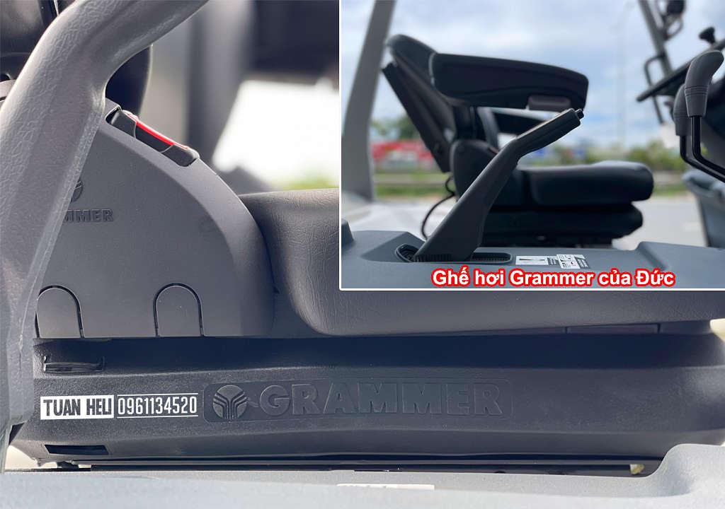 Ghế hơi Grammer trên xe nâng điện 4-5 tấn